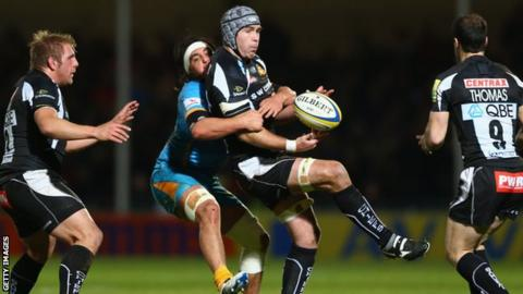 Exeter Chiefs against Wasps