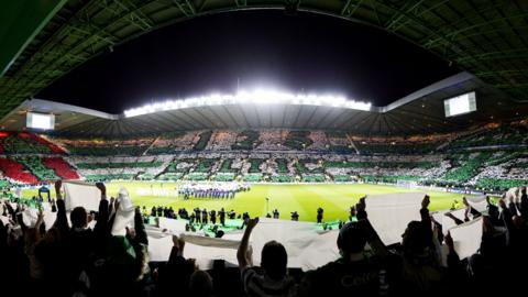 Celtic fans put on a display to celebrate the clubs 125th anniversary