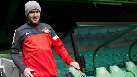 Aiden McGeady training at Celtic Park