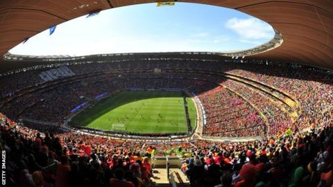 The FNB Stadium in Johannesburg
