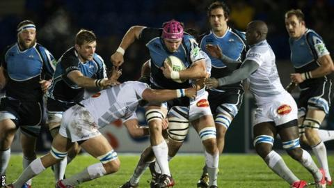 Glasgow Warriors and Castres players