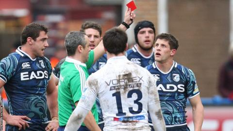 Cardiff Blues lose scrum-half Lloyd Williams for an alleged tip tackle