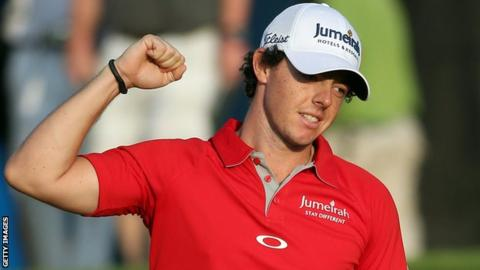 Rory McIlroy has been awarded the 2012 Golf Writers' Trophy