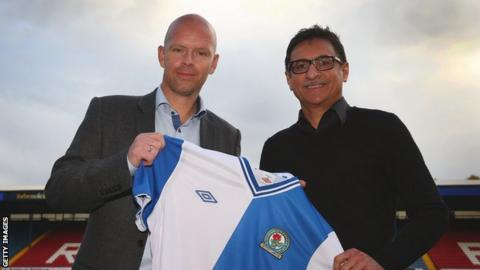 Blackburn Rovers manager Henning Berg and global advisor Shebby Singh