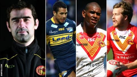 L-R: Laurent Frayssinous, Brent Webb, Leon Pryce, Scott Dureau