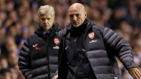 Arsene Wenger and Steve Bould