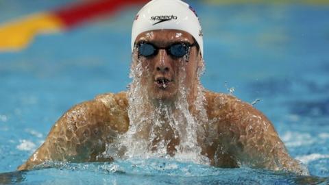 Olympic Silver medalist swimmer Michael Jamieson