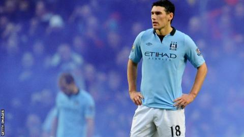 Manchester City midfielder Gareth Barry after the 3-2 defeat to Manchester United