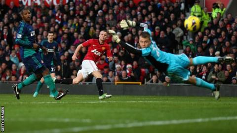 Tom Cleverley scores for Manchester United against Sunderland
