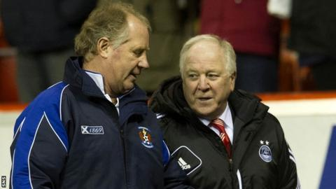 Jimmy Nicholl and Craig Brown