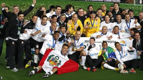 Corinthians celebrate winning the FIFA Club World Cup