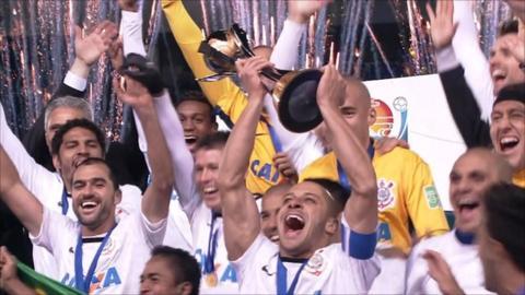 Corinthians celebrate winning the Club World Cup