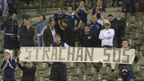 Dejected Scotland fans at the end of the World Cup qualifer in Belgium share their thoughts on who should lead the team