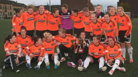 Glasgow City lift the Scottish Women's Premier League trophy for the sixth year in a row.