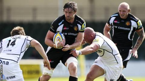 Aly Muldowney in possession for Exeter Chiefs