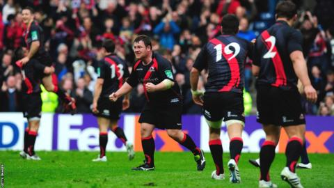 7 April - Edinburgh beat four-time European Cup champions Toulouse 19-14 at Murrayfield