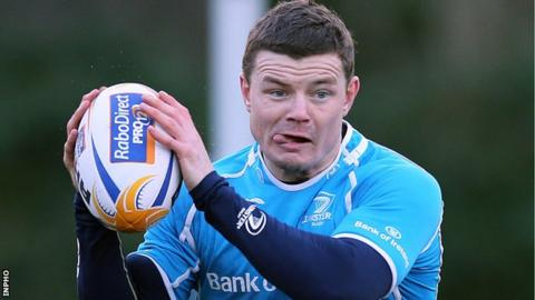 Brian O'Driscoll back in training with Leinster