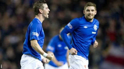 Templeton celebrates scoring against Annan