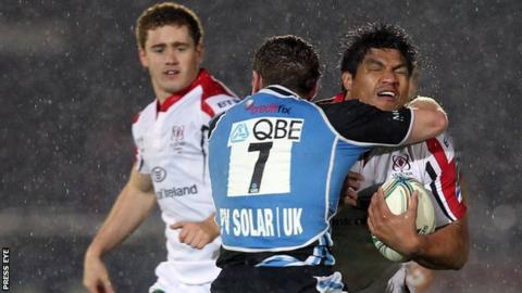 Ulster's Paddy Jackson and Nick Williams in action against Glasgow in the Pro12 earlier this season