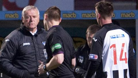 Jim Jefferies urges his players on from the sidelines