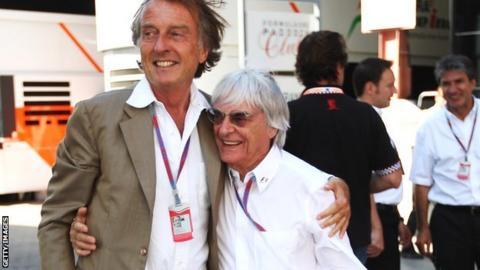 Luca di Montezemolo and Bernie Ecclestone
