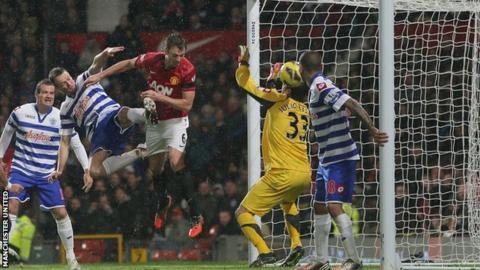 Manchesrer United's Jonny Evans