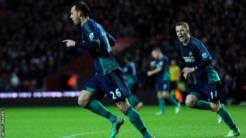 Steven Fletcher celebrates scoring for Sunderland
