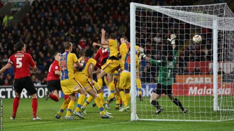 Aron Gunnarsson completes the Cardiff comeback as he heads home City's winner to seal a 2-1 result against Palace