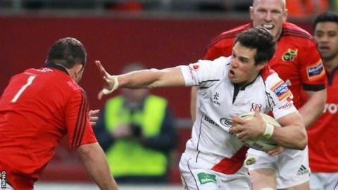 Adam D'Arcy in action against Munster