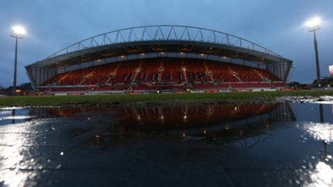 Thomond Park's playing surface before kick-off