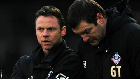 Paul Dickov and Gerry Taggart