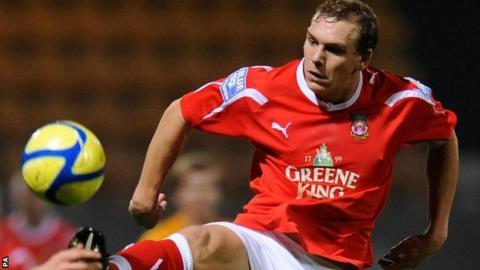 Wrexham striker Danny Wright