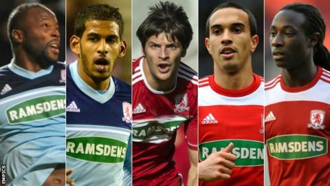 Andre Bikey, Faris Haroun, George Friend, Seb Hines and Marvin Emnes