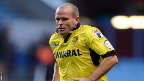 Tranmere Rovers midfielder Andy Robinson