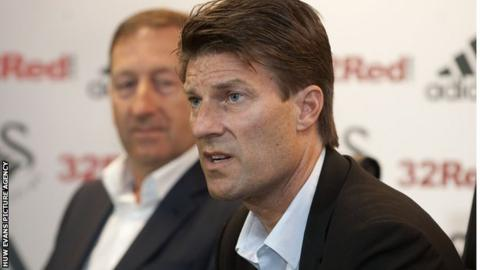 Huw Jenkins with Michael Laudrup