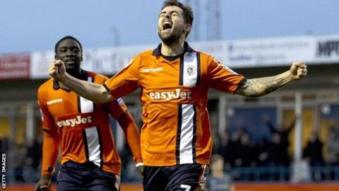 Alex Lawless scores for Luton Town
