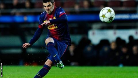 Barcelona striker David Villa