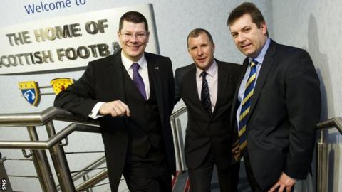 Neil Doncaster, Stewart Regan and David Longmuir