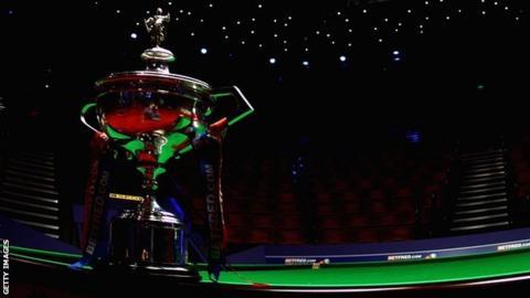 World Snooker Championship trophy