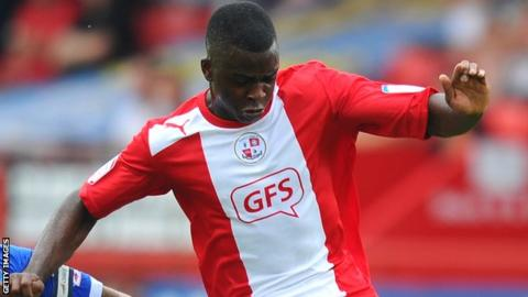 Hope Akpan in action for Crawley