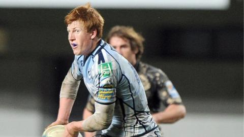 Rhys Patchell in action for the Blues