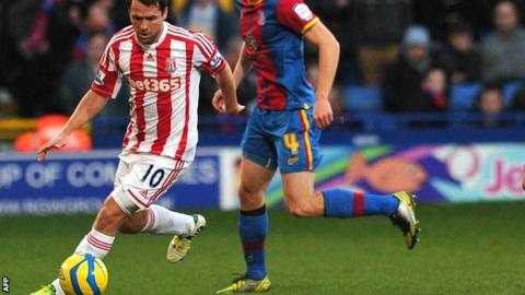 Michael Owen in his only start for Stoke so far this season against Crystal Palace in the FA Cup