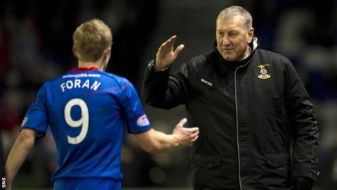 Inverness CT manager Terry Butcher and Richie Foran