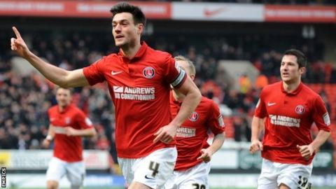 Johnnie Jackson celebrates after putting Charlton ahead