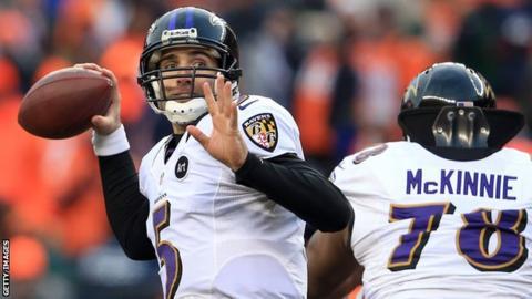 Joe Flacco of the Baltimore Ravens
