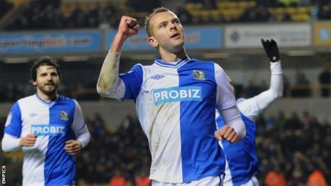 Blackburn Rovers striker Jordan Rhodes