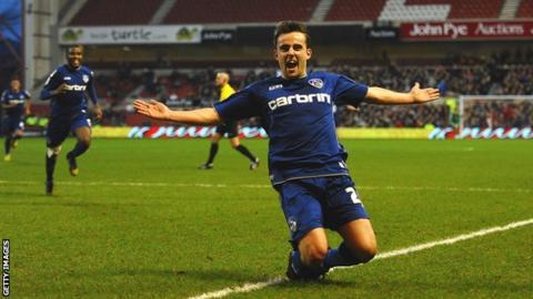 Oldham Athletic striker Jose Baxter