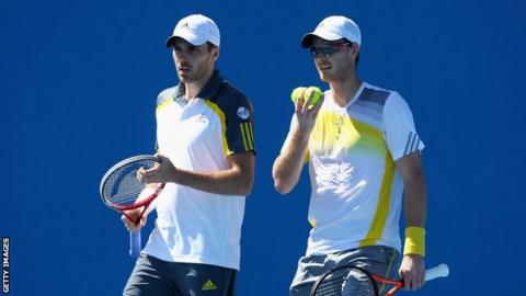 From left: Colin Fleming; Jamie Murray