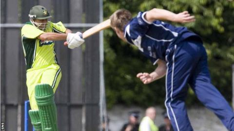 Pakistan v Scotland in a ODI in Edinburgh in 2006