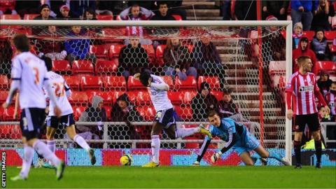 Sunderland concede a goal against Bolton